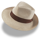 128x128px size png icon of Hat linen trilby