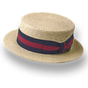 128x128px size png icon of Hat straw derby