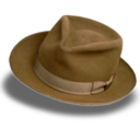 128x128px size png icon of Hat suede fedora