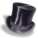 128x128px size png icon of Hat top silk 2