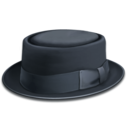 128x128px size png icon of hat blue