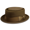 128x128px size png icon of hat brown