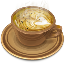 128x128px size png icon of Coffee brown