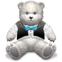 128x128px size png icon of Gift Light Grey bear