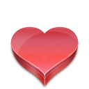 128x128px size png icon of Heart candies
