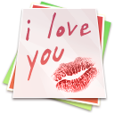 128x128px size png icon of Paper kiss