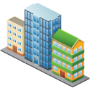 128x128px size png icon of City