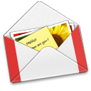 128x128px size png icon of Letter GMail