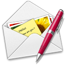 128x128px size png icon of Letter pen