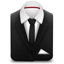 128x128px size png icon of Manager Suit Black Tie
