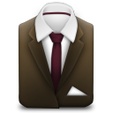 128x128px size png icon of Manager Suit Brown