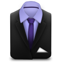 128x128px size png icon of Manager Suit Purple