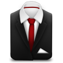 128x128px size png icon of Manager Suit Red Tie