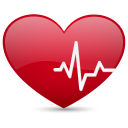 128x128px size png icon of heart beat