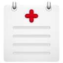 128x128px size png icon of medical report
