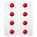 128x128px size png icon of pills strips