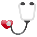 128x128px size png icon of stethoscope no sh