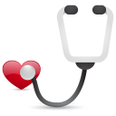 128x128px size png icon of stethoscope