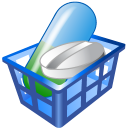128x128px size png icon of Drug basket