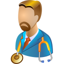 128x128px size png icon of Head physician