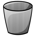 128x128px size png icon of Bucket Empty