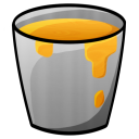 128x128px size png icon of Bucket Lava