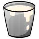 128x128px size png icon of Bucket Milk