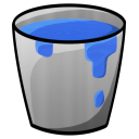 128x128px size png icon of Bucket Water