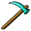 128x128px size png icon of Diamond Hoe