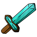 128x128px size png icon of Diamond Sword