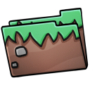 128x128px size png icon of Folder Grass