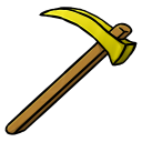 128x128px size png icon of Gold Hoe