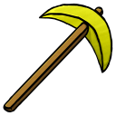 128x128px size png icon of Gold Pickaxe
