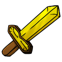128x128px size png icon of Gold Sword