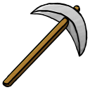 128x128px size png icon of Iron Pickaxe