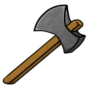 128x128px size png icon of Stone Axe