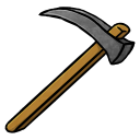 128x128px size png icon of Stone Hoe