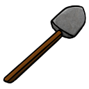 128x128px size png icon of Stone Shovel
