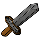 128x128px size png icon of Stone Sword