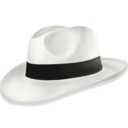 128x128px size png icon of hat2 white