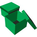 128x128px size png icon of boxes green
