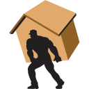 128x128px size png icon of carry home brown