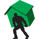 128x128px size png icon of carry home green