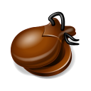 128x128px size png icon of Castanets