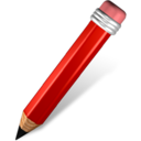 Pencil red Icon