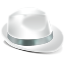 128x128px size png icon of Borsalino Blanc