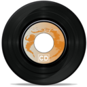 128x128px size png icon of CD oldSchool