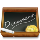 128x128px size png icon of Dossier ardoise documents