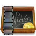 128x128px size png icon of Dossier ardoise video