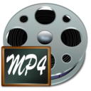 128x128px size png icon of Fichiers mp 4